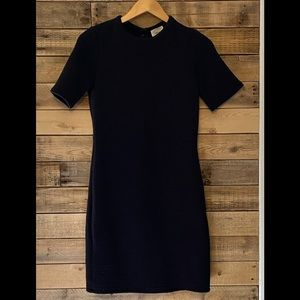 Wilfred Free short sleeve ribbed dress black